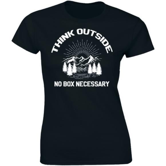 Half It Tops - Think Outside No Box Necessary Tee Women's T-shirt